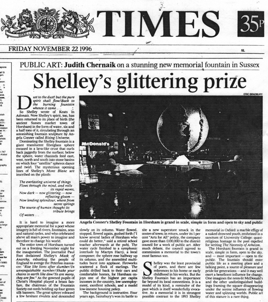 Press Times Article Horsham Cosmic Cycle Nov 22nd 1996 lower res
